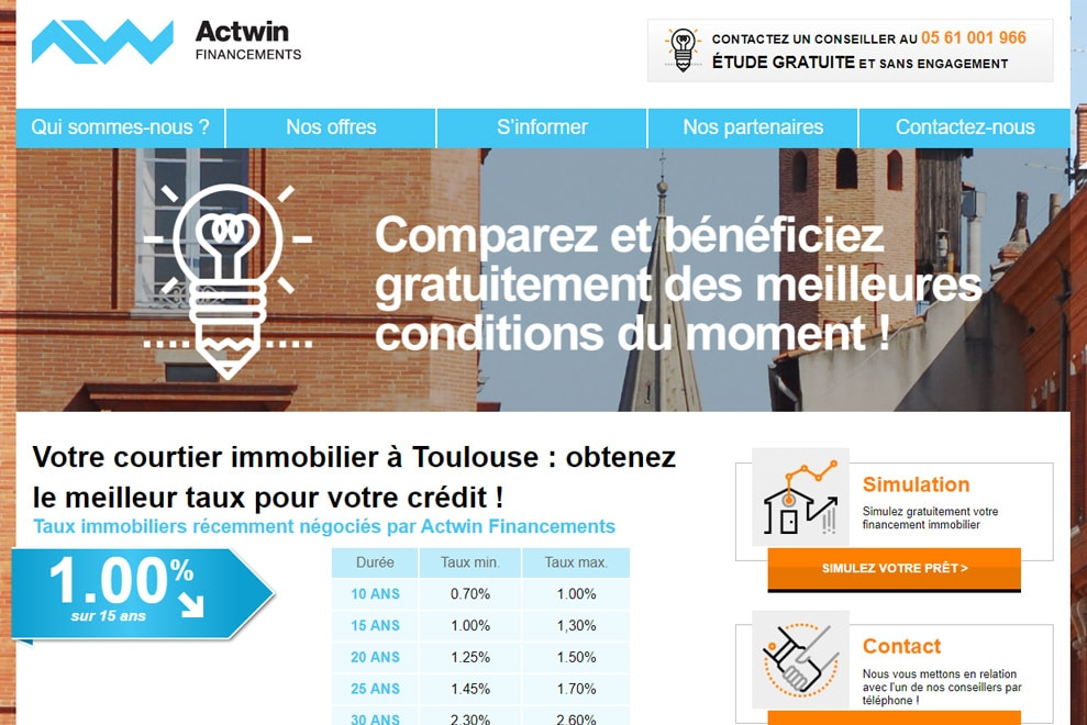 Actwin Financements, courtier immobilier