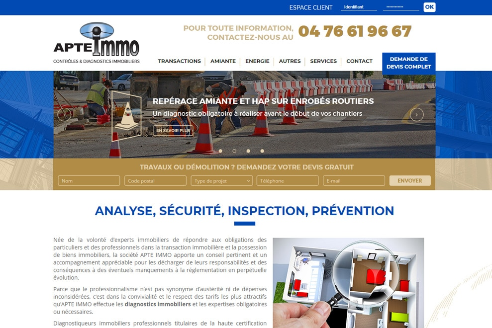 Apte Immo, diagnostic immobilier