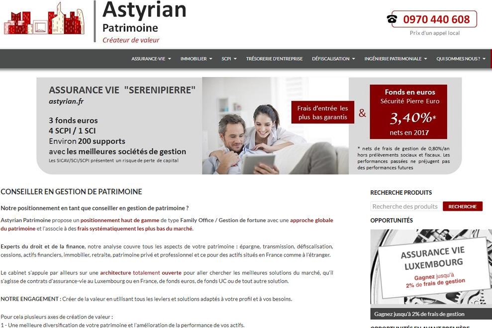 Astyrian Patrimoine, gestion de patrimoine
