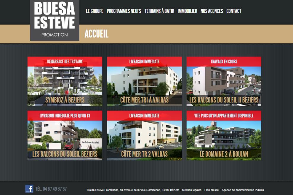 Buesa Esteve Promotions, construction