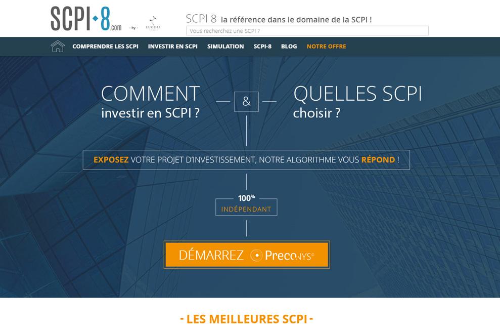 Euodia Finance, investissement en SCPI