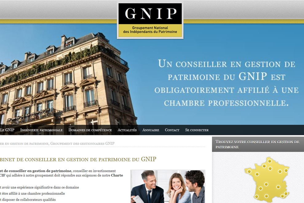 GNIP, gestion en patrimoine