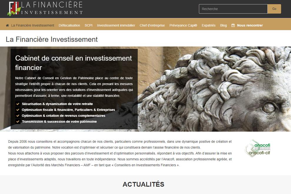 La Financière Investissement, gestion de patrimoine