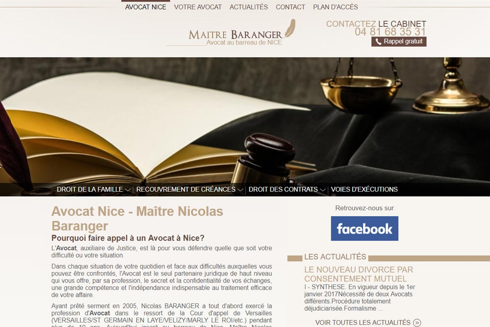 Me Nicolas Baranger, avocat droit de visite