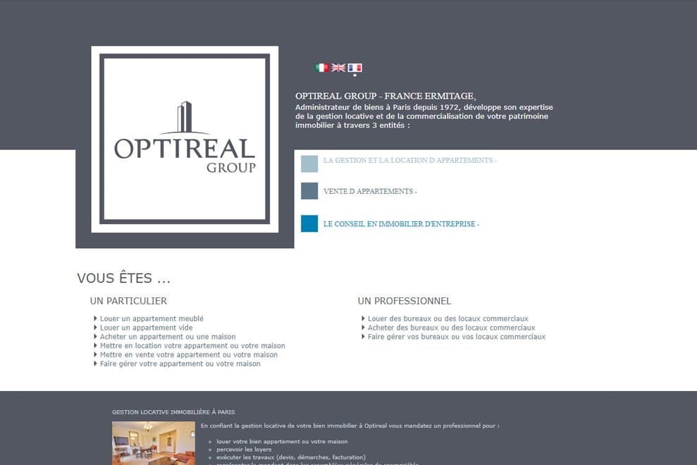 Optireal Group-France Ermitage, gestion locative