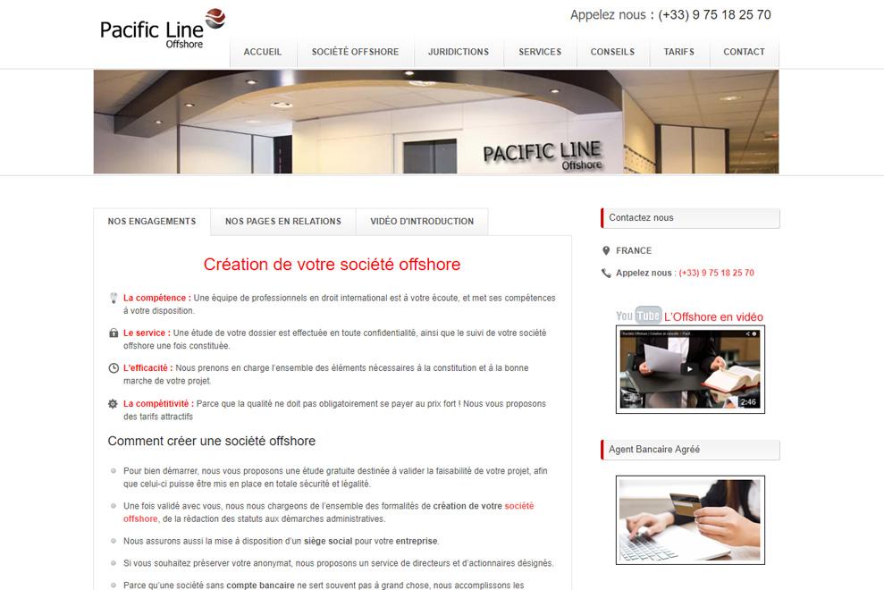 Pacific Line, société offshore