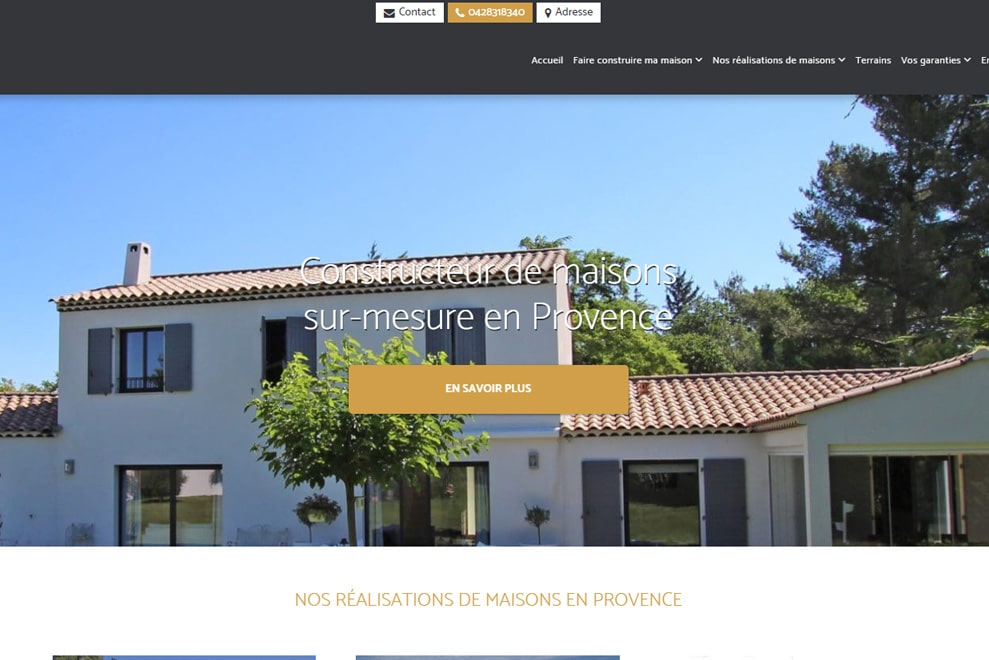 Provence Architecture, construction