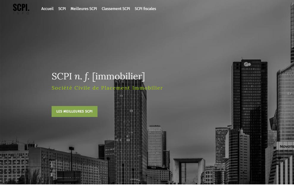 SCPI, gestion de patrimoine
