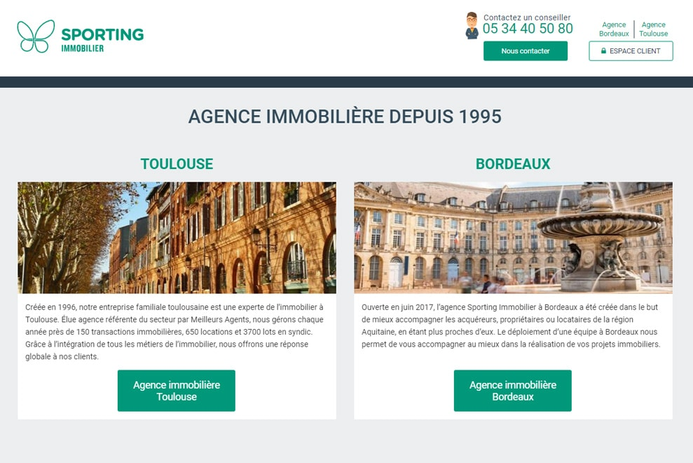 Sporting-immobilier, agence immobilière
