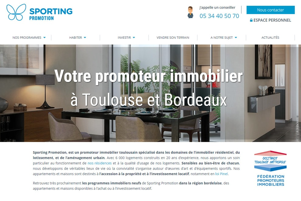 Sporting Promotion, promoteur immobilier