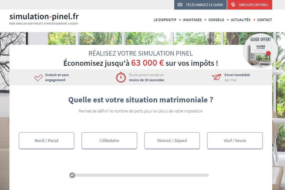 Simulation Pinel, investissement Pinel