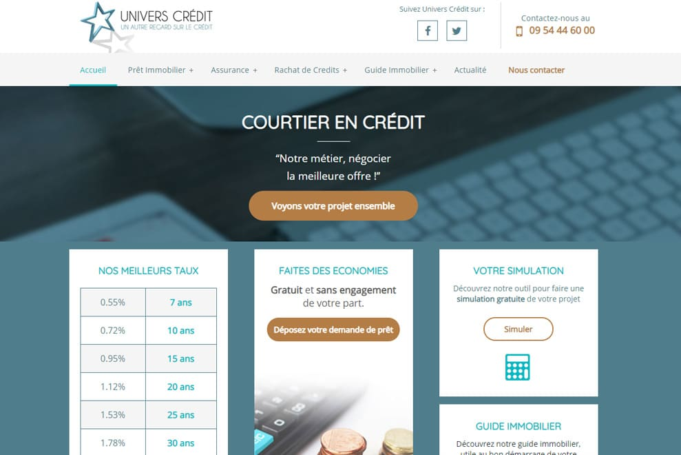 Univers Crédit, courtier en crédit immobilier