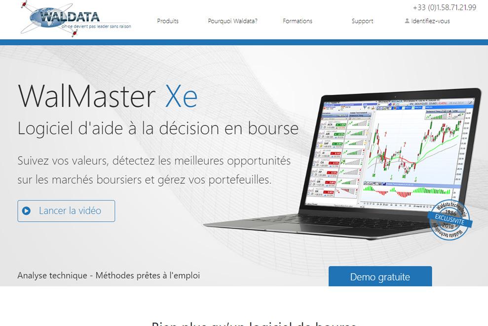 Waldata, logiciel de bourse et de trading