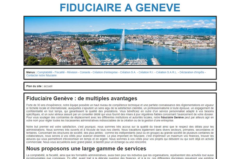 Fiduciaire Genève, expert comptable