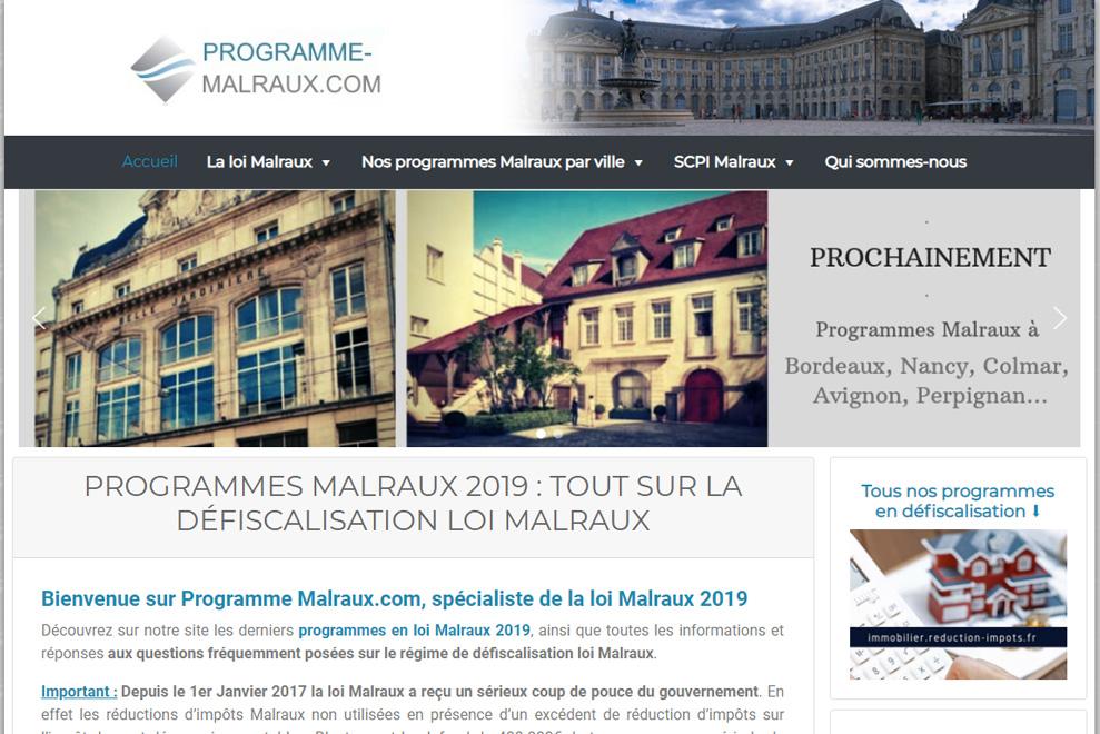 Programme-Malraux, défiscalisation loi Malraux