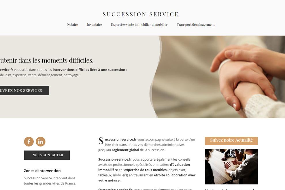 Succession Service, gestion de la succession