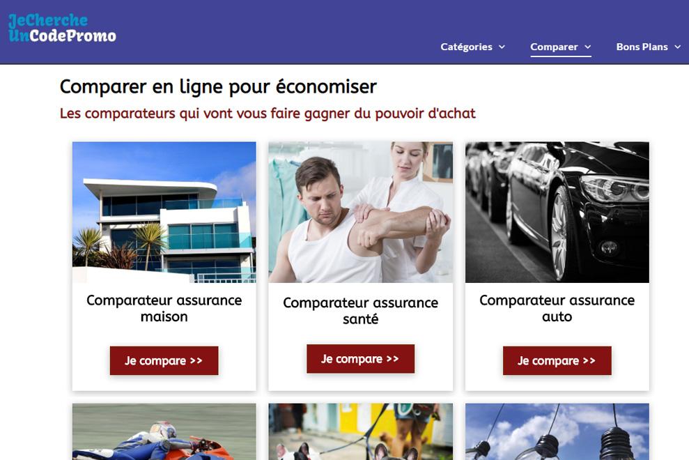 Comparateur d'assurances : comparer avec JeChercheUnCodePromo