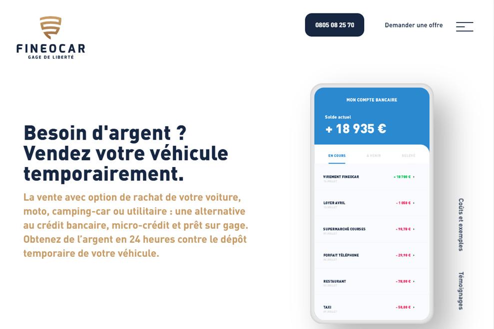 Fineocar, alternative au crédit, micro-crédit et prêt sur gage