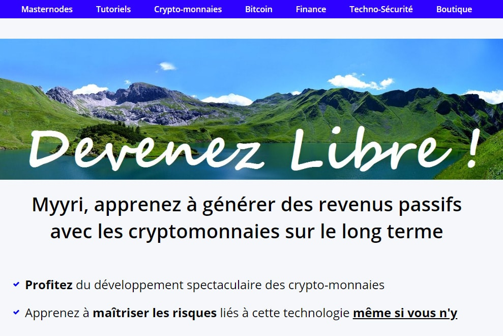MYYRI : des conseils et des formations sur les crypto-monnaies et les masternodes