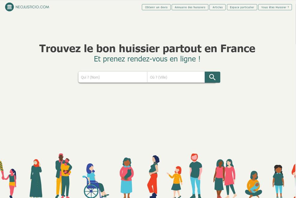 NeoJusticio, annuaire huissiers de justice en France